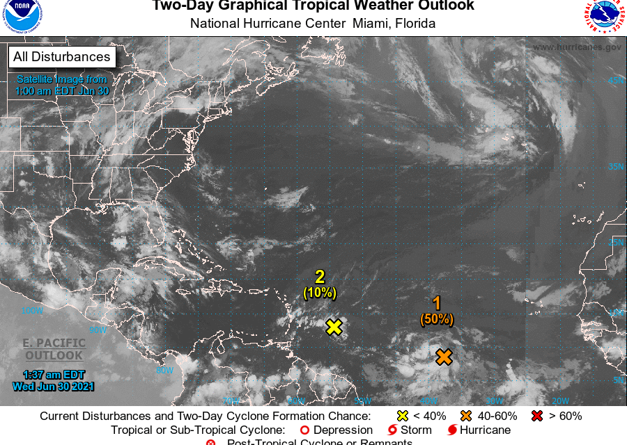 Puerto Rico da seguimiento a dos ondas tropicales que enfilan hacia el Caribe