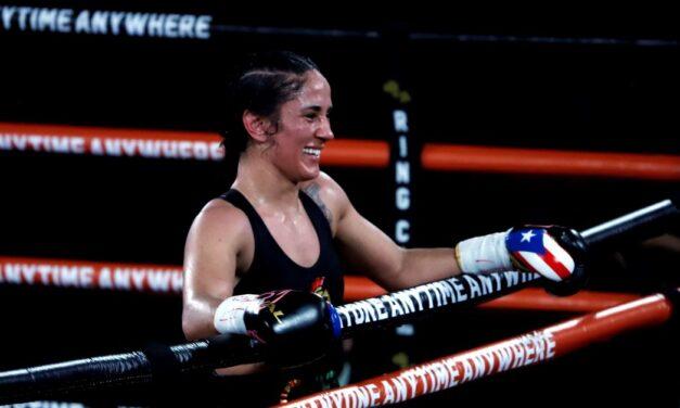 Campeona puertorriqueña recibe sortija de la Organizacion Mundial de Boxeo