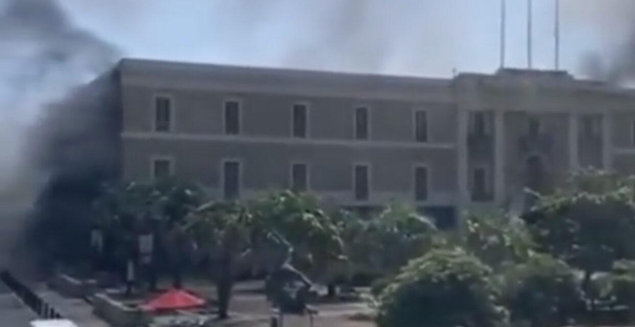 Incendio en el Cuartel de Ballajá