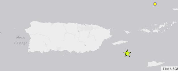 Se registra temblor de 4.91 grados al sur de Vieques