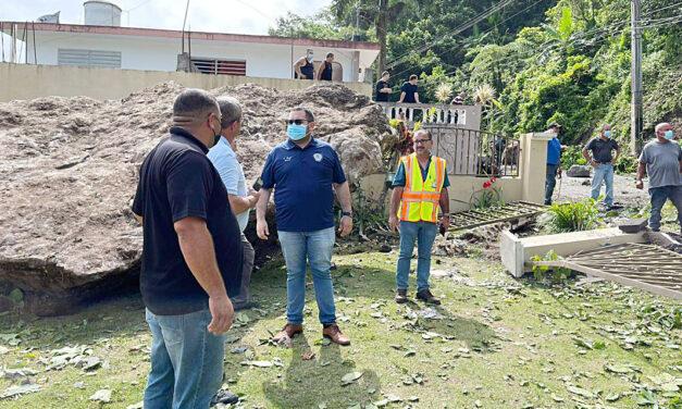 Protegen residencias tras derrumbe