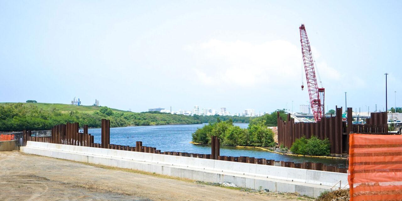 Sigue canalización Río Puerto Nuevo
