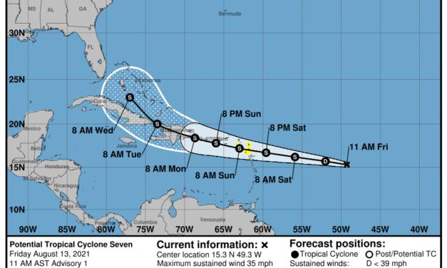 Posible ciclón tropical 7 comenzará a ser monitoreado por el Centro Nacional de Huracanes