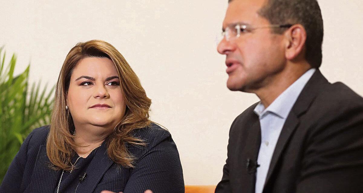Chocan Pierluisi y Jenniffer